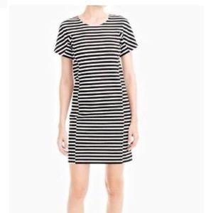 J. Crew • Black and White Striped Sheath Dress